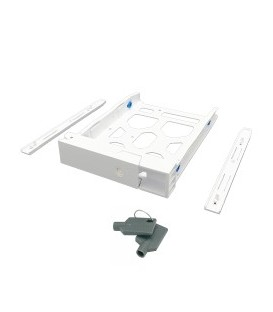 QNAP TRAY-35-WHT01 White HDD Tray with Key Lock & 2 Keys for 3.5'' & 2.5'' HDD