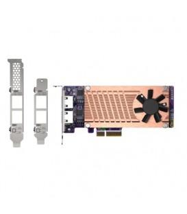 QNAP QM2-2P2G2T  Dual M.2 2280 PCIe NVMe SSD & Dual-Port 2.5GbE Expansion Card