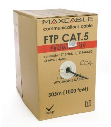 MAXCABLE Cavo Rete Cat.5 FTP CCA 305m Nero