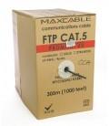 MAXCABLE Cavo Rete Cat.5 FTP CCA UV-Resist Esterno 305m Nero