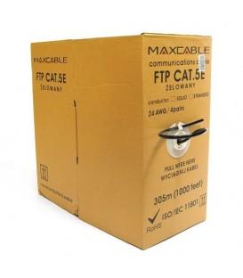 MAXCABLE Cavo Rete Cat.5E FTP CU Gel Esterno 305m Nero