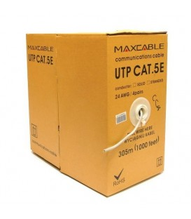 MAXCABLE Cavo Rete Cat.5E UTP CCA 305m Grigio