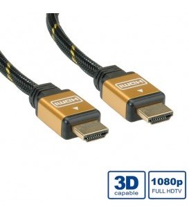 Roline Gold HDMI High Speed Cable M-M 2 mt.