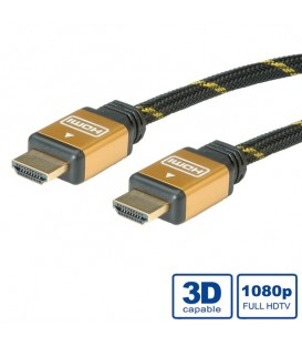 Roline Gold HDMI High Speed Cable with Ethernet M-M 2 mt.