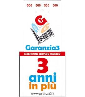 GARANZIA3 - Estensione di Garanzia 3 Anni con Massimale €500