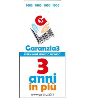 GARANZIA3 - Estensione di Garanzia 3 Anni con Massimale €1000