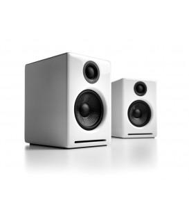 Audioengine 2+ Amplified Desktop Speaker System - Hi Gloss White
