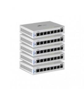 UBIQUITI UniFi® Switch 8 Managed Single PoE Port Gigabit Switch 5-Pack