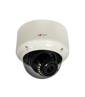 ACTi A83 2MP Outdoor Zoom Dome Camera Video Analytics D/N IR Extreme WDR ELLS 4.3x Zoom Lens