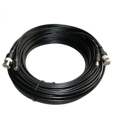 Cavo Coassiale Combinato - RG59 + DC - Video/Alimentazione - Connettore BNC (M/M) e DC (M/F) - 10 mt