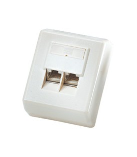 Roline Surface Mount Wall Box Cat.5E UTP White