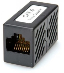 Roline Line Coupler RJ-45 Cat.6 UTP Black