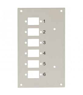 Intellinet Pannello Frontale 6 Connessioni SC-Simplex per Box Ottico