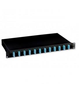 """Intellinet Cassetto Ottico 19"""" con 12 Bussole SC Duplex Monomodale Nero"""