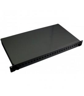 """Intellinet Cassetto Ottico 19"""" 12 Porte LC Duplex Nero Fisso"""