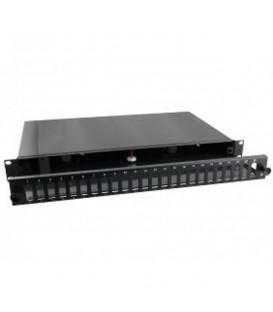 """Intellinet Cassetto Ottico 19"""" 24 Porte SC Duplex Nero Fisso"""