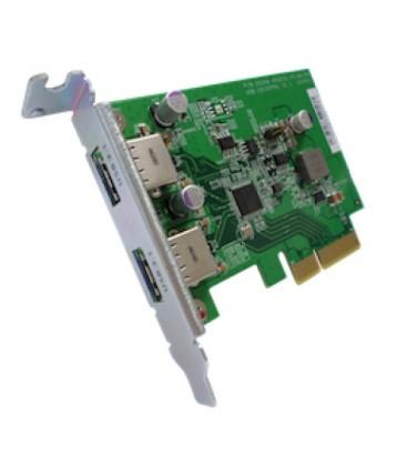 QNAP USB-U31A2P01 USB 3.1 Gen 2 10 Gbps Type-A Dual-port PCIe Card