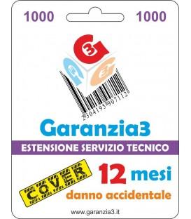 GARANZIA3 COVER - Copertura Danno Accidentale 12 mesi - Massimale di Euro 1000