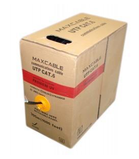 MAXCABLE Cavo Rete Cat.6 UTP CU UV-Resist Esterno 305m Nero