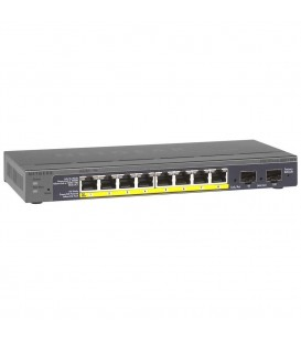 NETGEAR® GS110TP ProSafe® 8-port Gigabit PoE Smart Managed Switch with 2 Gigabit Fiber SFP