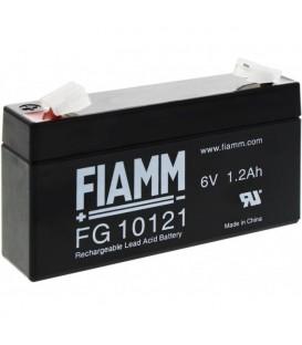 FIAMM FG10121 Batteria al Piombo VRLA 6V 1.2Ah (Faston 187 - 4,8mm)