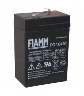 FIAMM FG10451 Batteria al Piombo VRLA 6V 4.5Ah (Faston 187 - 4,8mm)