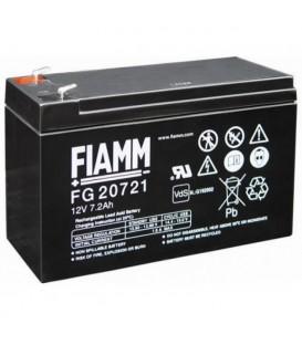 FIAMM FG20721 Batteria al Piombo VRLA 12V 7.2Ah (Faston 187 - 4,8mm)