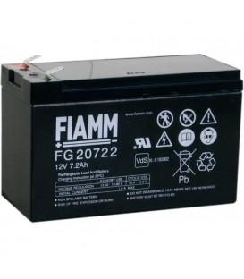 FIAMM FG20722 Batteria al Piombo VRLA 12V 7.2Ah (Faston 250 - 6,3mm)