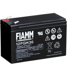 FIAMM 12FGH36 Batteria al Piombo VRLA 12V 9Ah (Faston 250 - 6,3mm)