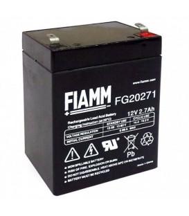 FIAMM FG20271 Batteria al Piombo VRLA 12V 2.7Ah (Faston 187 - 4,8mm)