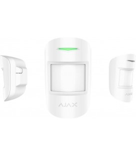 Ajax CombiProtect Wireless Motion & Glass Break Detector with Pet Immunity - White