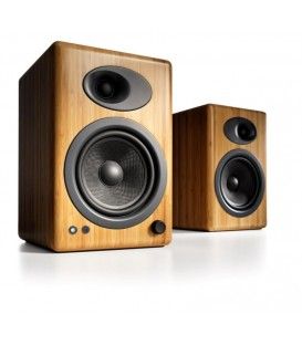 Audioengine 5+ Diffusori Amplificati Wireless Bluetooth - Bamboo