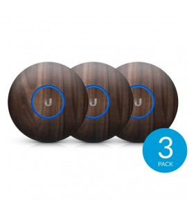 UBIQUITI nHD-cover-Wood-3 - WoodSkin Design Upgradable Casing for UniFi nanoHD 3-Pack