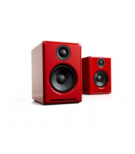 Audioengine 2+ Diffusori Amplificati Wireless Bluetooth - Hi Gloss Red