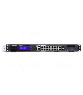 QNAP QGD-1600P-4G Hybrid PoE Managed Switch with NAS, NVR & Router Functions
