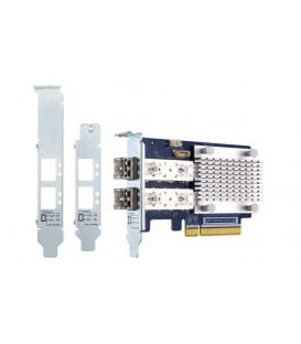 QNAP QXP-16G2FC Dual-Port 16GB Enhanced Gen 5 Fibre Channel Host Bus Adapter with SFP+ Transceivers