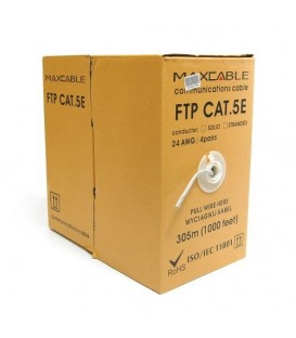 MAXCABLE Cavo Rete Cat.5E FTP CU Pure Copper Interno 305m Grigio