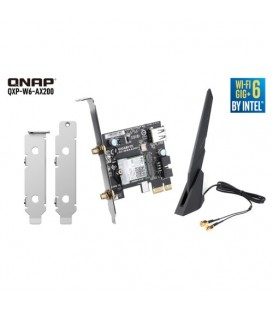 QNAP QXP-W6-AX200 Wi-Fi 6 PCIe Wireless Card with Antenna & Brackets for NAS