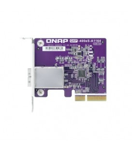 QNAP QXP-400eS-A1164 1-Port SFF-8088 Host Bus Adapter, 4 x SATA PCIe 3.0 x2 Expansion Card for TL JBOD