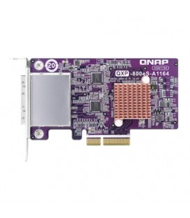 QNAP QXP-800eS-A1164 2-Port SFF-8088 Host Bus Adapter, 4 x SATA PCIe 3.0 x4 Expansion Card for TL JBOD