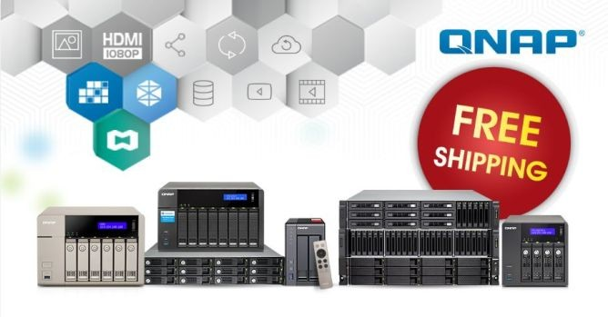 QNAP - Free Shipping for models over €300